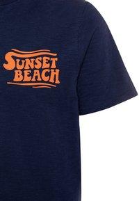 GAP - BOY FRONT BACK TEE - Print T-shirt - military blue - 2