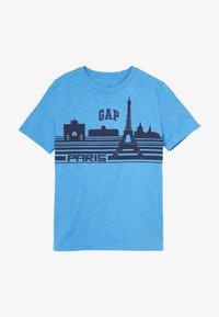 GAP - BOY PARIS  - Print T-shirt - blithe blue - 2