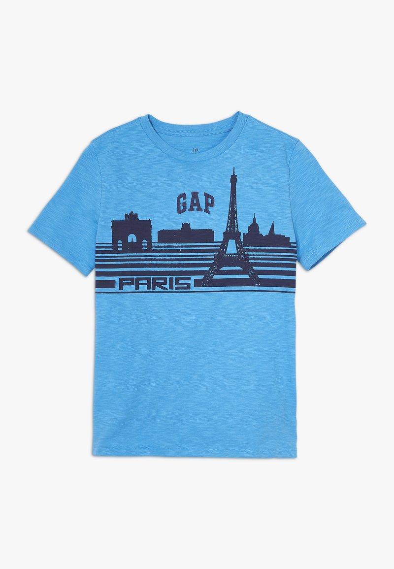 GAP - BOY PARIS  - Print T-shirt - blithe blue
