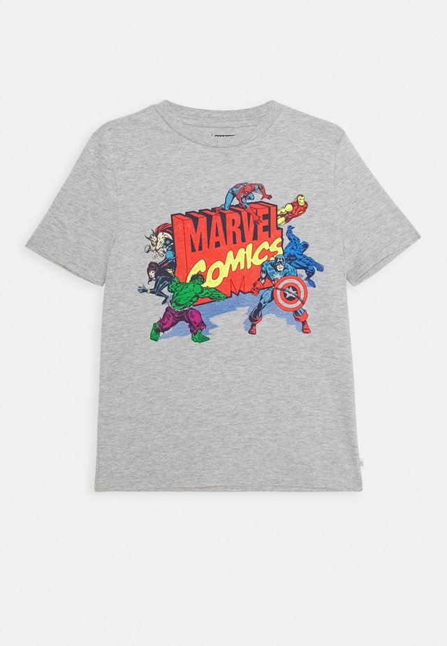 BOY - T-shirt con stampa - light heather grey