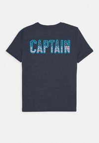 GAP - BOY - Camiseta estampada - navy heather - 1