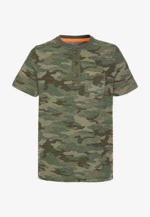BOY HENLEY - T-shirt print - green