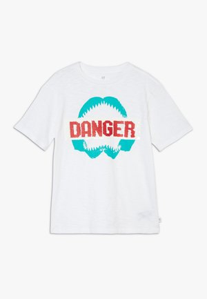 BOY FLIPPY TEE - T-shirt print - white