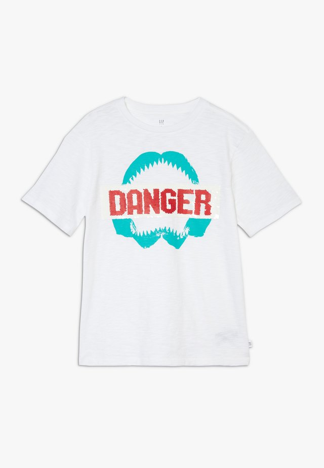 BOY FLIPPY TEE - Camiseta estampada - white