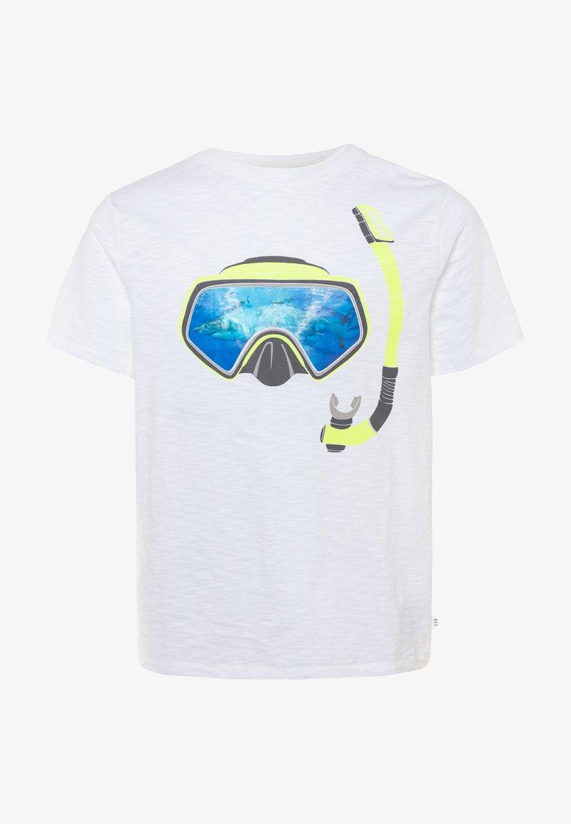 GAP - HOLOGRAPHIC DINOSAUR T-SHIRT - Print T-shirt - white