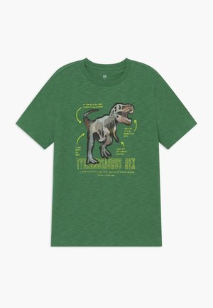 HOLOGRAPHIC DINOSAUR T-SHIRT - Print T-shirt - summer spruce