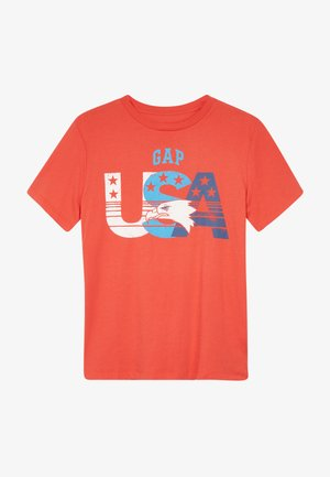 BOY CITY TEE - T-shirt print - hot coral