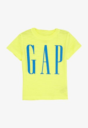 TODDLER BOY LOGOMANIA TEE - T-shirt imprimé - vibrating yellow