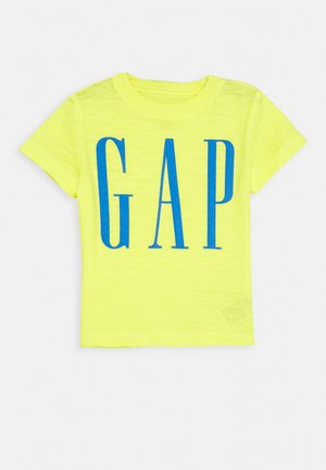 TODDLER BOY LOGOMANIA TEE - Print T-shirt - vibrating yellow