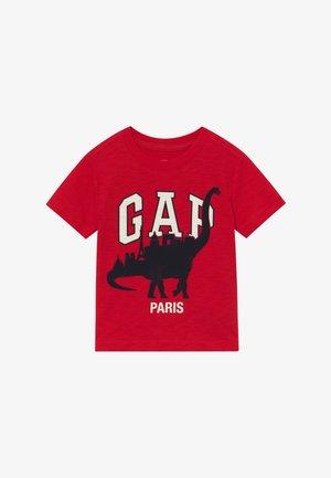 TODDLER BOY CITY TEE - Camiseta estampada - pure red