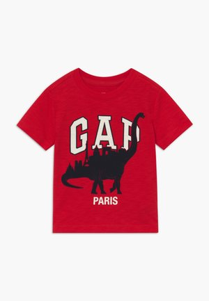 TODDLER BOY CITY TEE - Triko s potiskem - pure red