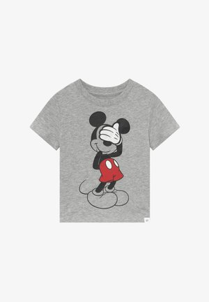 TODDLER BOY MICKEY  3D TEE - T-shirt z nadrukiem - light heather grey