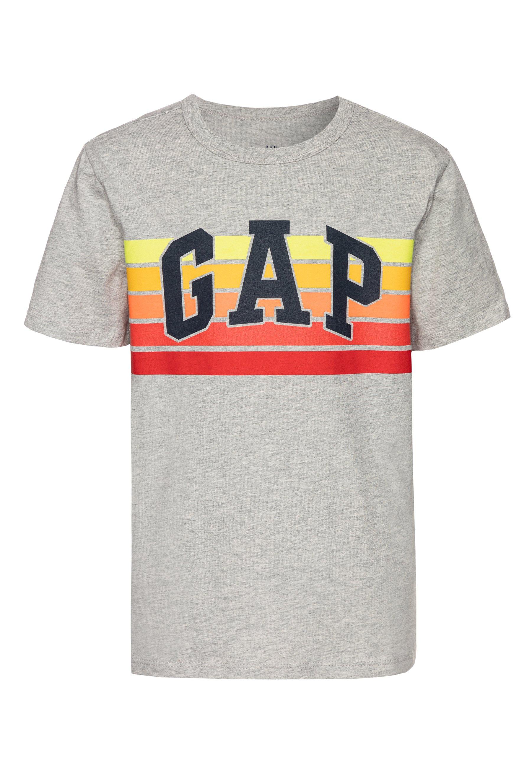 GAP BOY - T-shirt z nadrukiem - light heather grey