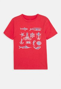 GAP - BOYS - Triko s potiskem - buoy red - 0