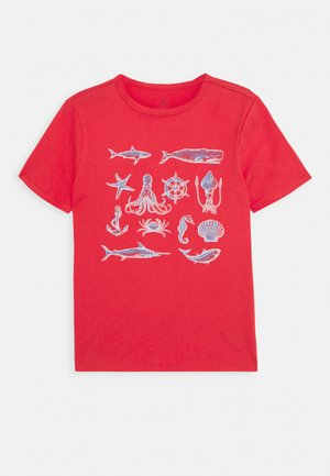 BOYS - Print T-shirt - buoy red