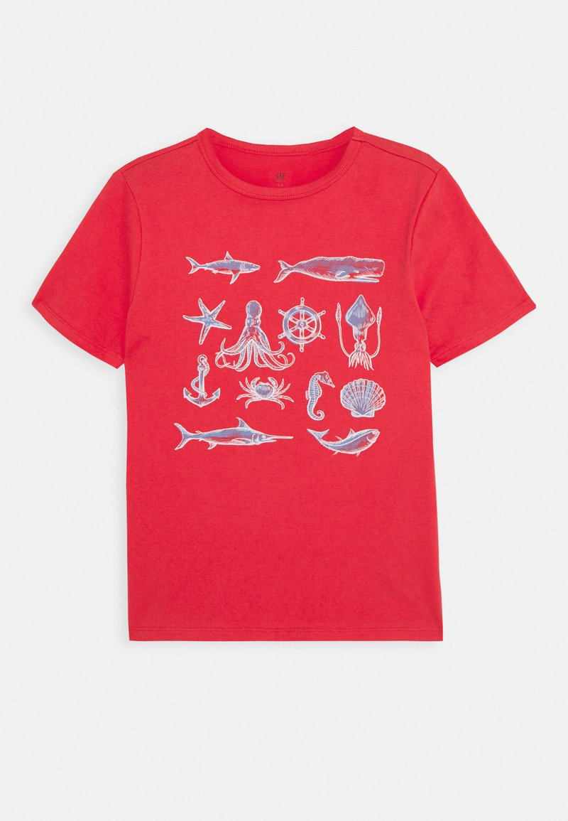 GAP - BOYS - Triko s potiskem - buoy red