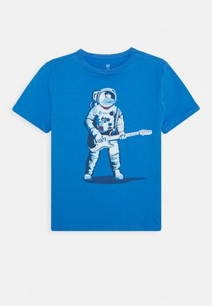 BOYS - Camiseta estampada - blue/red
