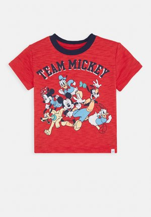 TODDLER BOY MICKEY GRAPHICS - T-shirt z nadrukiem - buoy red