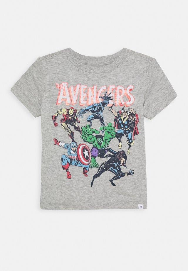 TODDLER BOY HERO GRAPHICS - T-shirt con stampa - light heather grey