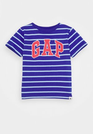 TODDLER BOY LOGO STRIPE - Triko s potiskem - powerful blue