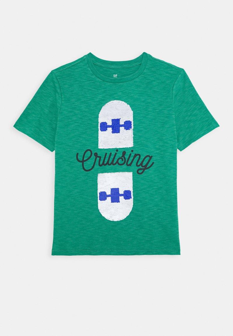 GAP - BOY FLIPPY - T-shirt imprimé - irish clover