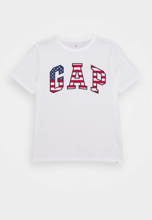 BOY USA FLAG TEE - Print T-shirt - fresh white