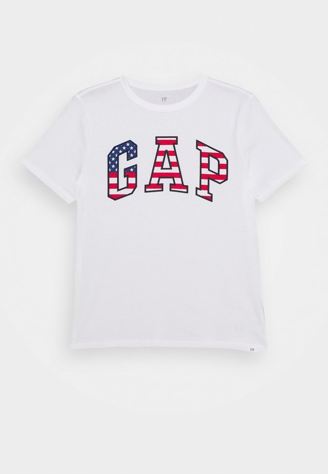 BOY USA FLAG TEE - Camiseta estampada - fresh white