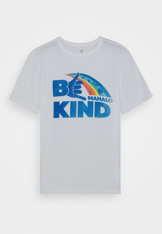 BOYS - T-shirt med print - optic white