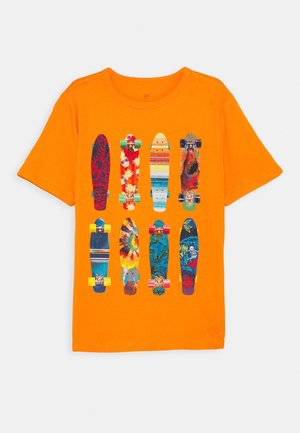 BOYS - T-shirt imprimé - orange peel