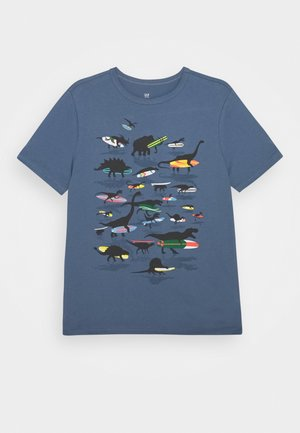 BOYS - Print T-shirt - bainbridge blue