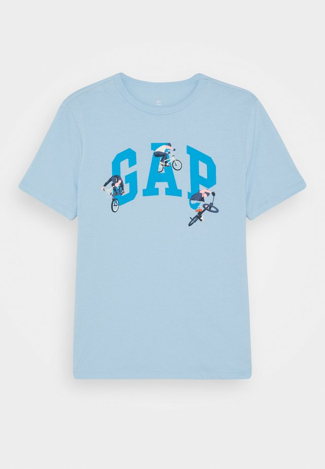 BOYS VALUE GRAPHIC - T-shirt z nadrukiem - blue focus