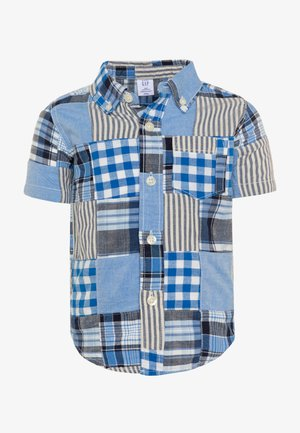 TODDLER BOY PATCHWORK - Koszula - blue