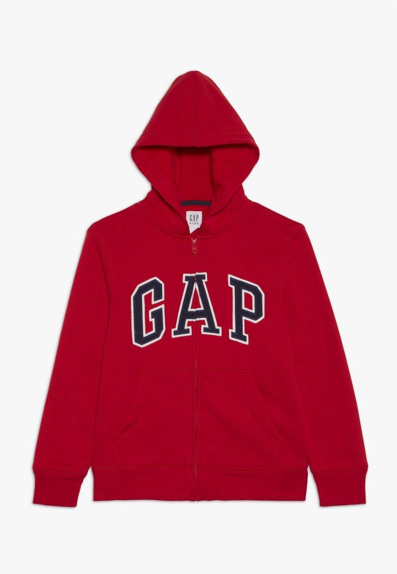 GAP - BOYS ACTIVE ARCH - Hoodie met rits - pure red