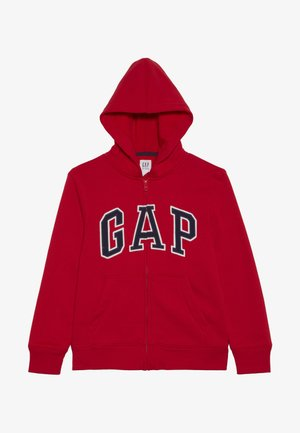 BOYS ACTIVE ARCH - Hoodie met rits - pure red