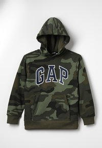 GAP - ACTIVE KNITS CAMO ARCH  - Jersey con capucha - camouflage - 0
