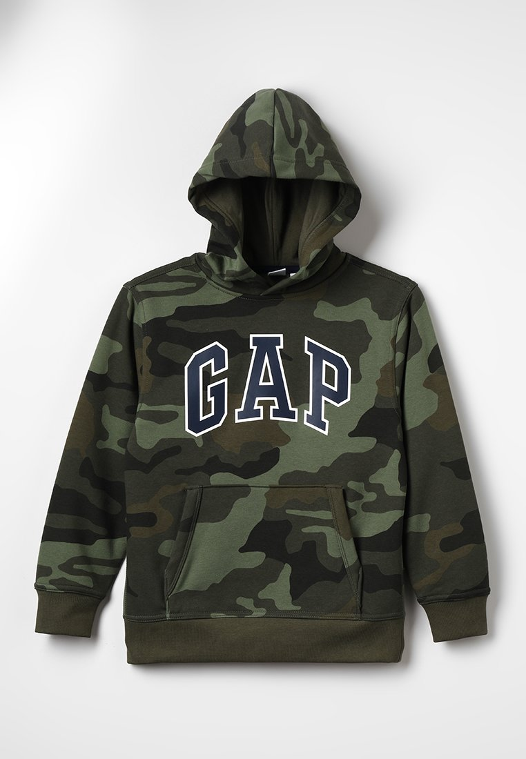 GAP - ACTIVE KNITS CAMO ARCH  - Jersey con capucha - camouflage