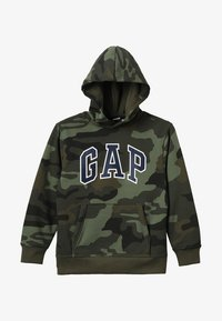 GAP - ACTIVE KNITS CAMO ARCH  - Jersey con capucha - camouflage - 3