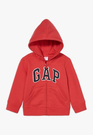 TODDLER BOY LOGO - Zip-up hoodie - red wagon
