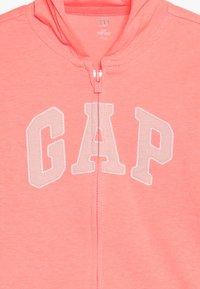 GAP - LOGO HOOD BABY - Sudadera con cremallera - neon blazing pink - 4
