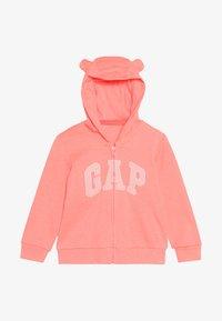 GAP - LOGO HOOD BABY - Sudadera con cremallera - neon blazing pink - 3