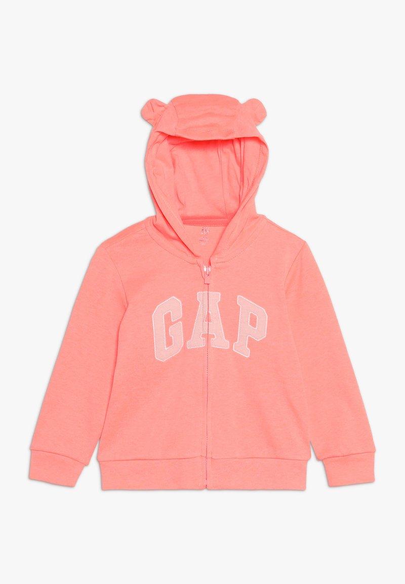 GAP - LOGO HOOD BABY - Sudadera con cremallera - neon blazing pink