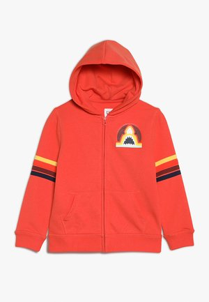 BOYS - veste en sweat zippée - deep papaya