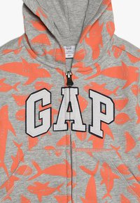 GAP - TODDLER BOY LOGO NOVELTY - Hoodie met rits - light heather grey - 3