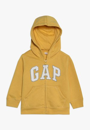 TODDLER BOY LOGO - veste en sweat zippée - gold wash