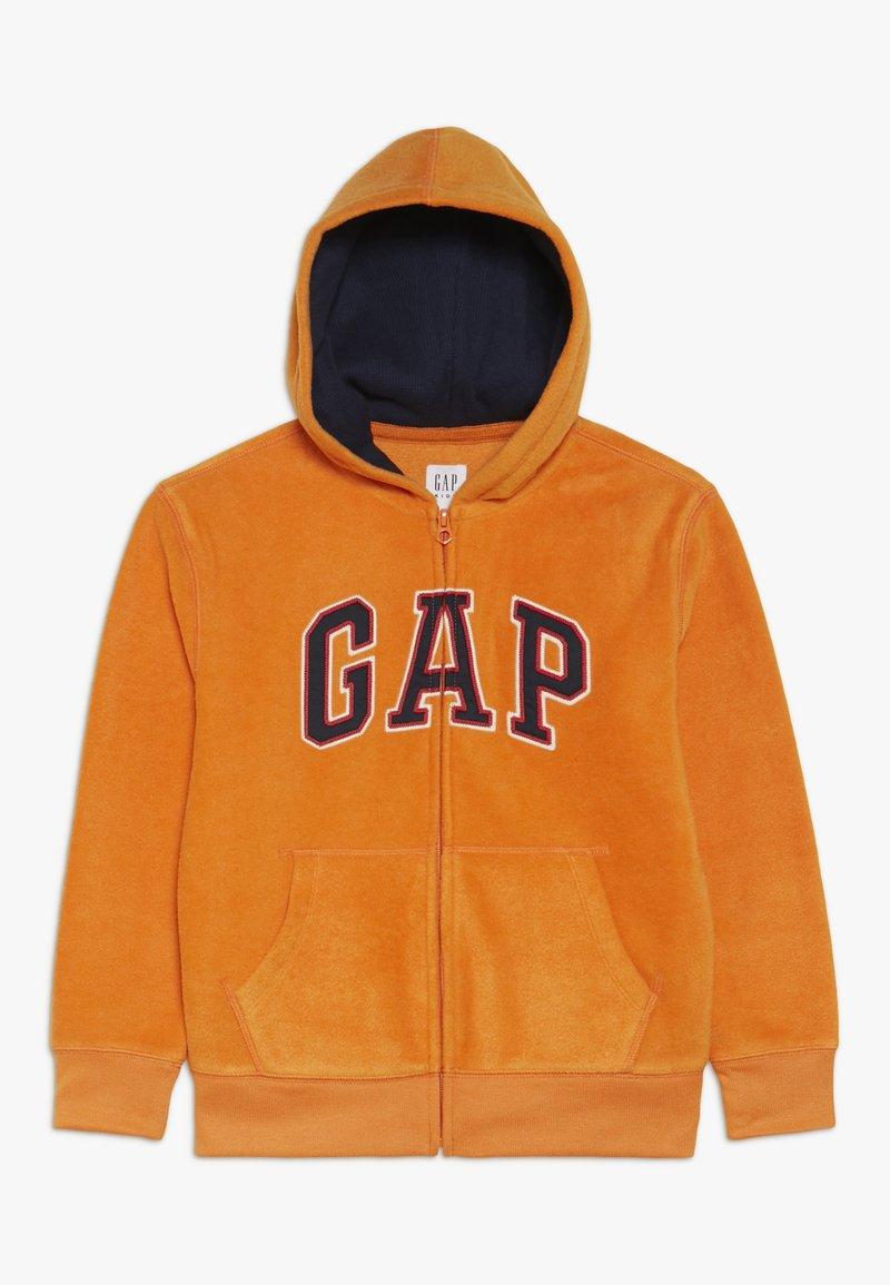 GAP - BOY ARCH HOOD - Fleece jacket - scorch
