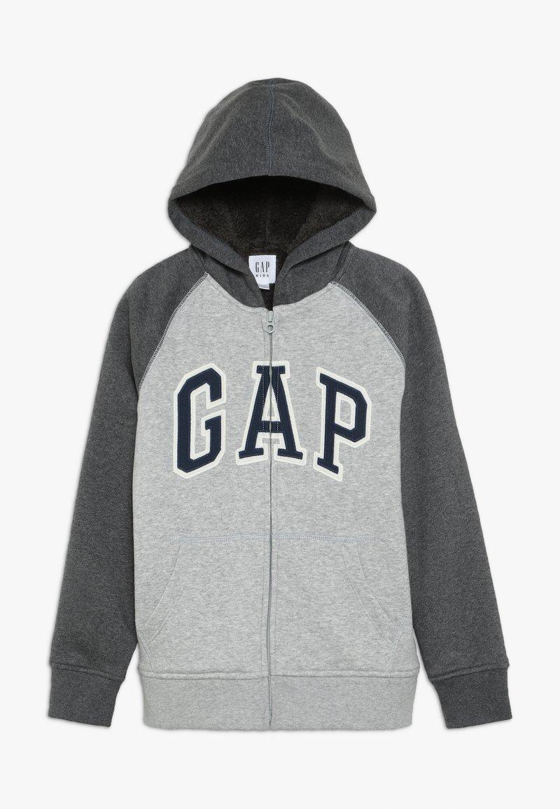 GAP - BOY COZY ARCH HOOD - Zip-up hoodie - light heather grey