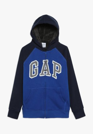 BOY COZY ARCH HOOD - Huvtröja med dragkedja - brilliant blue