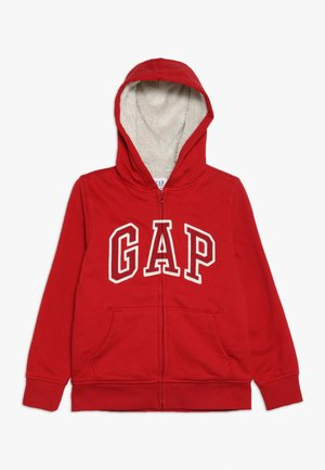 BOY LOGO GO - veste en sweat zippée - modern red
