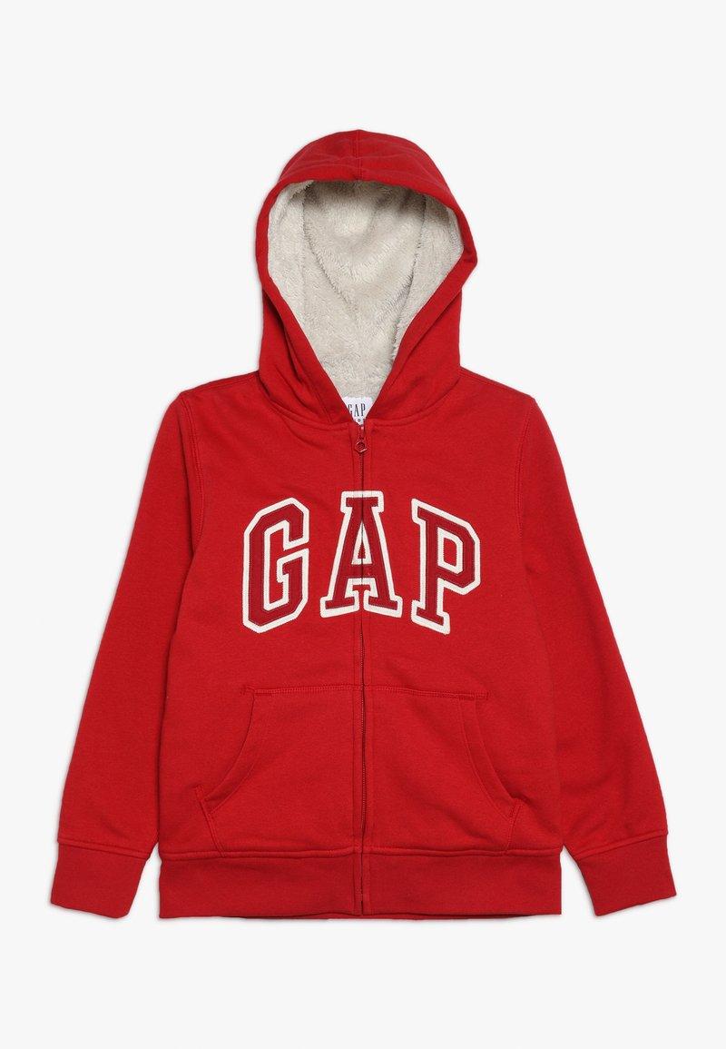 GAP - BOY LOGO GO - Hoodie met rits - modern red