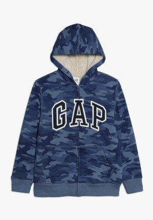 BOY LOGO GO - veste en sweat zippée - blue